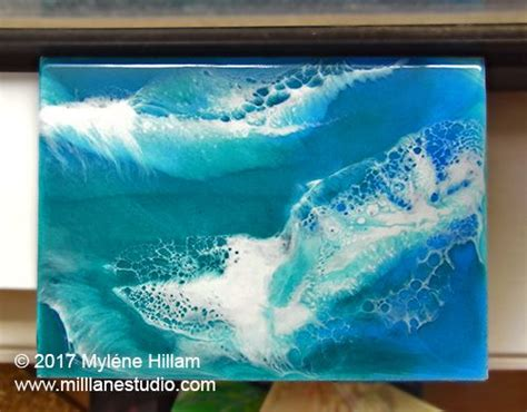 love  epoxy resin painting  crashing waves