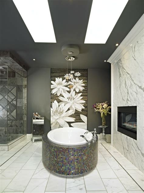 salle de bain noire marron  grise comment lamenager