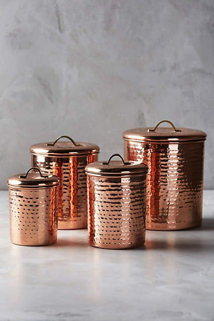 copper kitchen canisters copper plated canisters set of 4 new kitchen