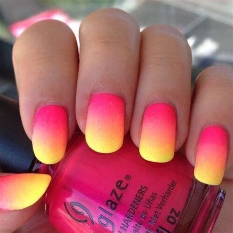 yellow ombre nails tumblr beautiful image