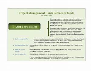 project 2010 quick reference guide template for word 2010 With project management manual template