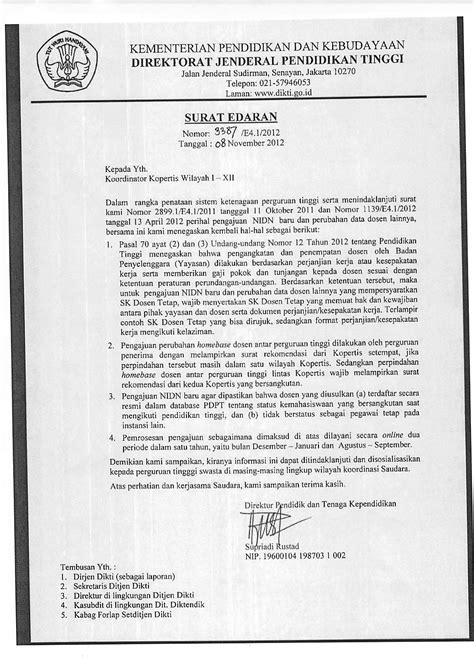 Contoh Surat Akreditasi Perguruan Tinggi Cpns by Kumpulan Info Penting Untuk Dosen
