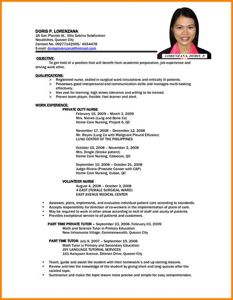 Free Resume Search Philippines 6 cv format philippines theorynpractice