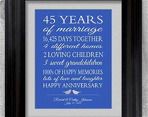 45th wedding anniversary gift for parents by for 45th wedding anniversary gift ideas for parents