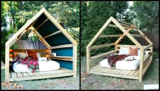 Wooden Spool Furniture by Unwind In Your Backyard With A Cozy Diy Outdoor Cabana