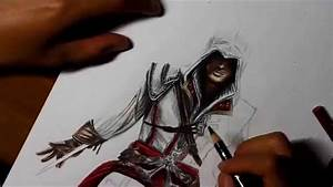 Time Lapse Drawing: Ezio from Assassin's Creed 2 - YouTube