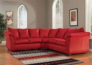 red couch red sectional couch With red fabric sectional sofas