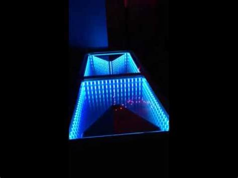 infinity mirror led beer pong table   www