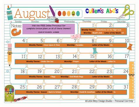 preschool calendars christian children activities 237 | August 2013 1024x791