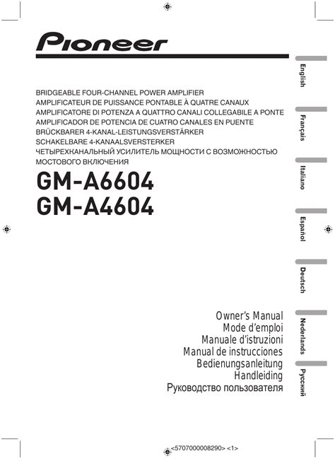 pioneer gm  user manual  pages   gm