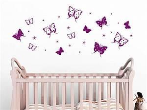 Wandtattoo Kinderzimmer Schmetterlinge : wandtattoo schmetterlinge mit sternen von ~ Sanjose-hotels-ca.com Haus und Dekorationen