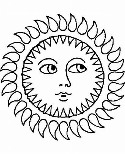 Cliparts Sun Drawings Coloring Pages