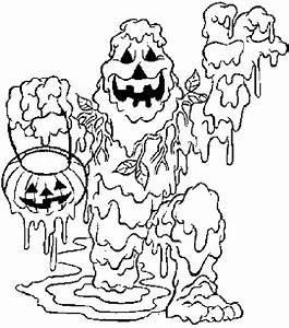 Dessin Qui Fait Tres Peur : coloriage de halloween qui fait peur dessins de monstres colorier ~ Carolinahurricanesstore.com Idées de Décoration