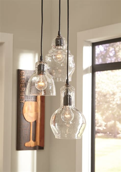 seeded glass pendant light farmhouse industrial lighting for your kitchen and dining