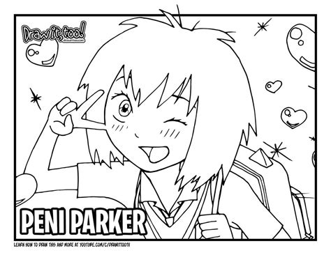 draw peni parker spider man   spider verse