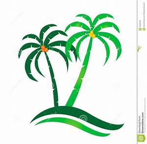 Tropical island logo stock vector. Illustration of ...