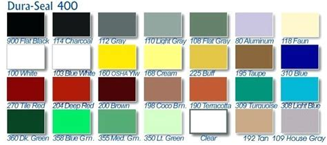 Dura Seal Color Chart Stain Chart Stain Colors Floors
