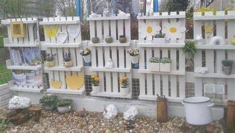 faire un mur brise vue en bois de palettes garden