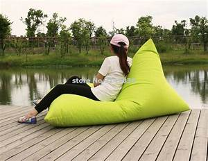 1 seat lounger folding bean bag chair with back support With bean bag chair with back support