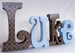 wooden letters for baby boy decor by thepatternbag on etsy With boys wooden letters