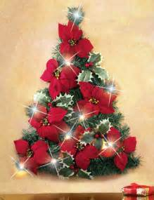 poinsettia christmas tree wall decoration birddog lighting