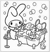 Melody Coloring Pages Cinnamoroll Sanrio Rilakkuma Kuromi Kitty Colouring Characters Hello Popular Cartoon Bathtime Printable Sheets Keroppi Twin Stars Template sketch template