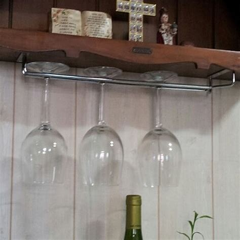 wine glass hangers under cabinet hanging wine glass rack drinking glasses storage under