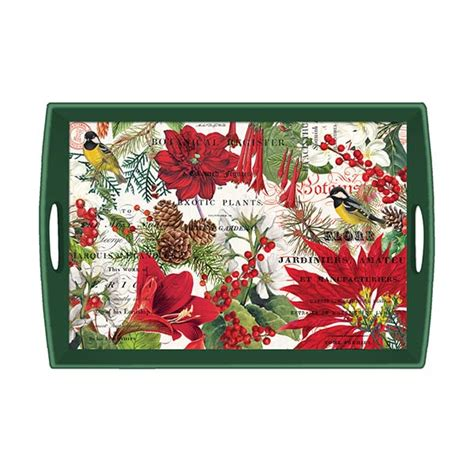 michel design works trays michel design works large wooden tray merry bright