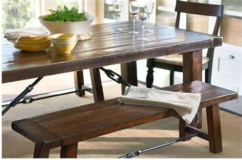 iron accents give this table an awesome industrial look