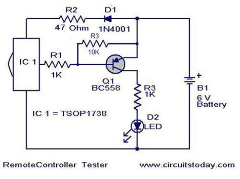Schematic Diagram Of Remote Control