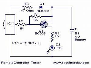 Wiring Free  Remote Control Tester Circuit Jacky March 24 2008 39 Comments Remote Control Tester