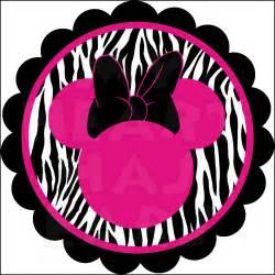 Zebra Minnie Mouse Birthday Clip Art
