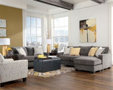 furniture grey sofa loveseat black soft table chusion
