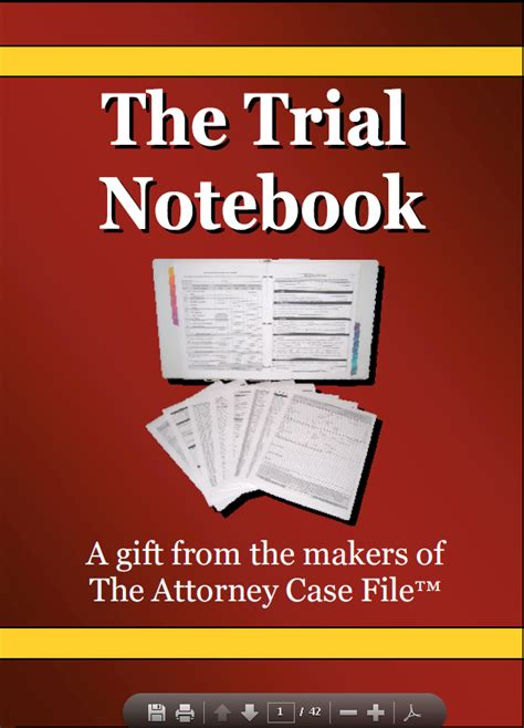 trial notebook template 5 traits of a winning trial notebook