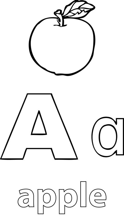 nice  alphabet apple coloring page apple coloring apple coloring pages coloring pages