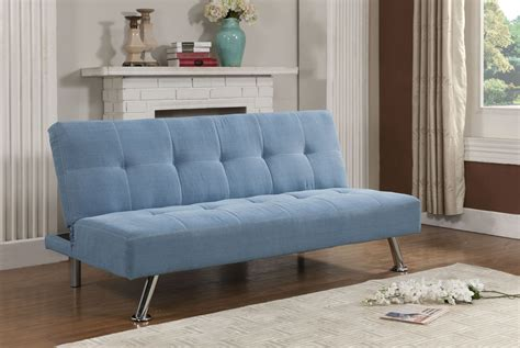 Klik Klak Loveseat by Brand Blue Jean Fabric Adjustable Back Klik Klak