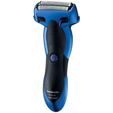 panasonic blade wet dry mens rechargeable blue electric shaver