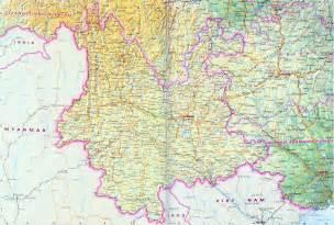 Yunnan Province China Map