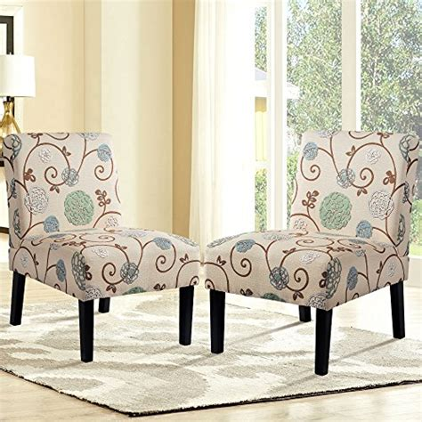 Floral Upholstered Living Room Chairs by Bright Designs Upholstered Accent Chair Armless