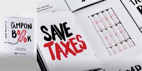 tampon book  protests taxes  menstrual