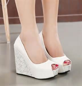 bridesmaids shoes 25 best ideas about wedge wedding shoes on bridal wedges wedding shoes and