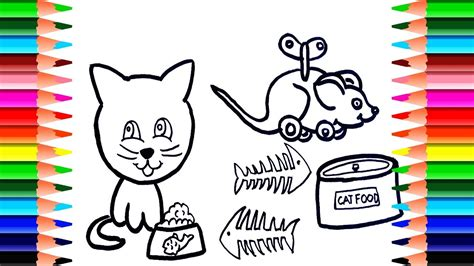animal coloring pages   draw cats cat food draw