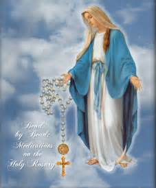 Blessed Virgin Mother Mary with Rosary