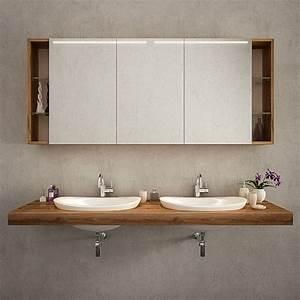 Badezimmer Spiegelschränke Mit Beleuchtung : badezimmerspiegelschrank bilbao ~ Frokenaadalensverden.com Haus und Dekorationen