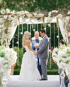 blush and white rose floral wedding archs with lights