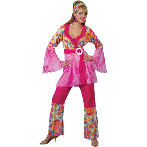 Ladies 60s Psychedelic Groovy Hippie Hippy Chick Flare ...