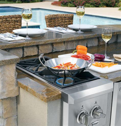 zgunpss monogram dual burner outdoor cooktop natural gas  monogram collection
