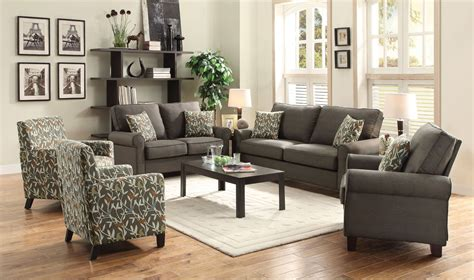 grey living room sets noella grey living room set from coaster 504781