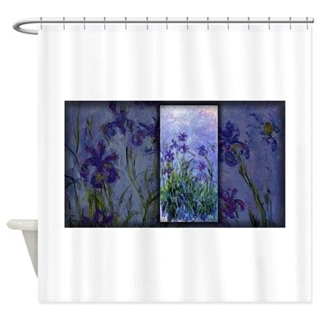 lilac shower curtain monet painting lilac irises shower curtain by thecafemarket
