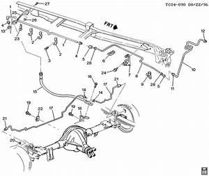 1996 Chevrolet Tahoe Ck310 314 Brake Lines  Rear